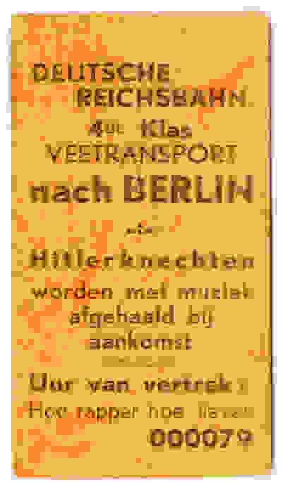 Cattle transport nach Berlin - Hitler's helpers are treated to music upon their arrival