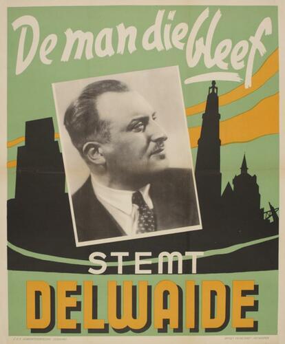 Electoral poster 'Vote Delwaide'