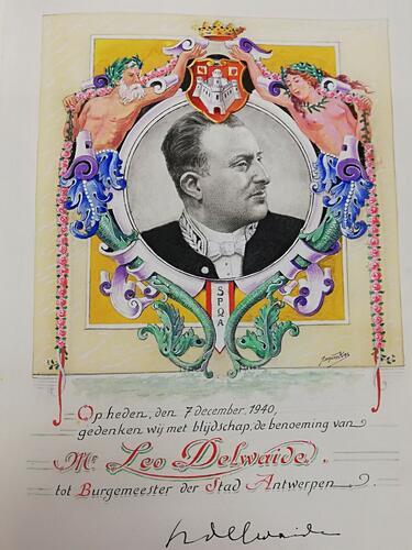 Ornamental photo of Leo Delwaide