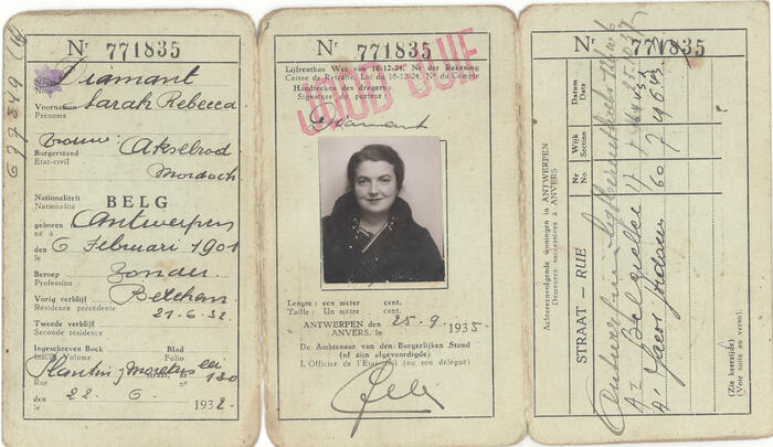 Passport of Sara Rebecca Diamant Akselrode